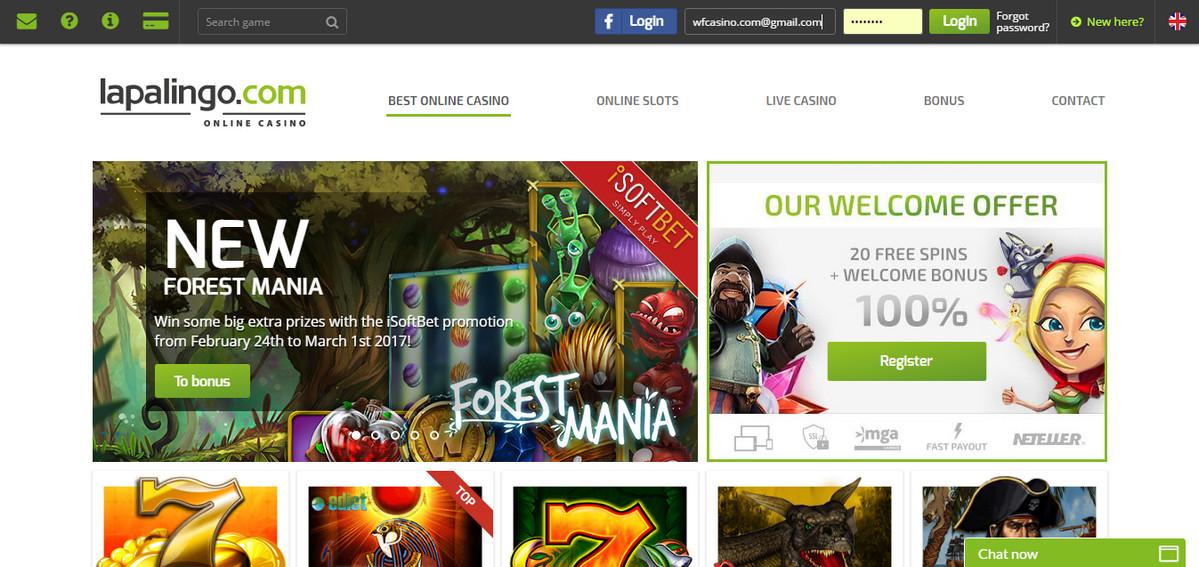 Lapalingo Casino Review Bonus Codes No Deposit