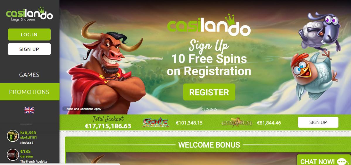 Casilando Casino Review Bonus Free Spins No Deposit Mobile